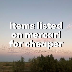 look for items on my mërcari!!